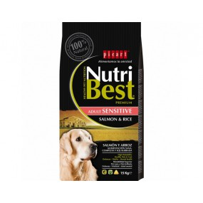 Nutribest Adult sensitive salmón y arroz 15KG